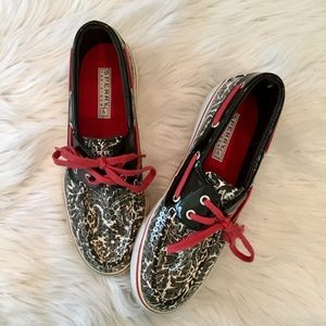 Sperry Top Sider Damask Sequin, 6M, Like New
